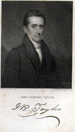A picture of J. B. Taylor with his signature